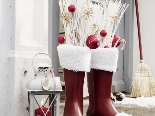 Rain boots is a very creative alternative to traditional stockings.