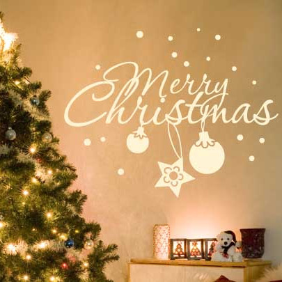 10 Christmas Decorating Ideas With Wall Stickers Shelterness d8rTQUQP
