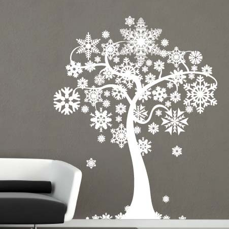 Chrsitmas Decor With Wall Stickers