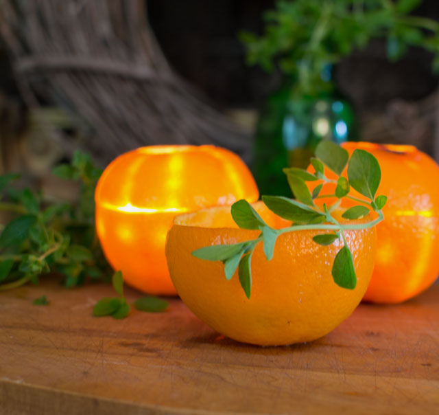 Citrus Glow: DIY Orange Rind Luminaries
