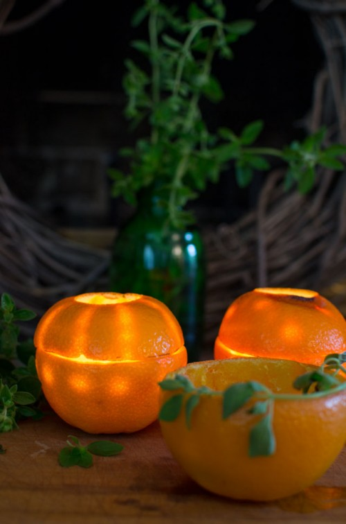Citrus Glow: DIY Orange Rind Luminaries