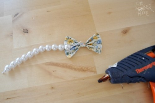 Classic Diy Pearl And Bow Bracelet