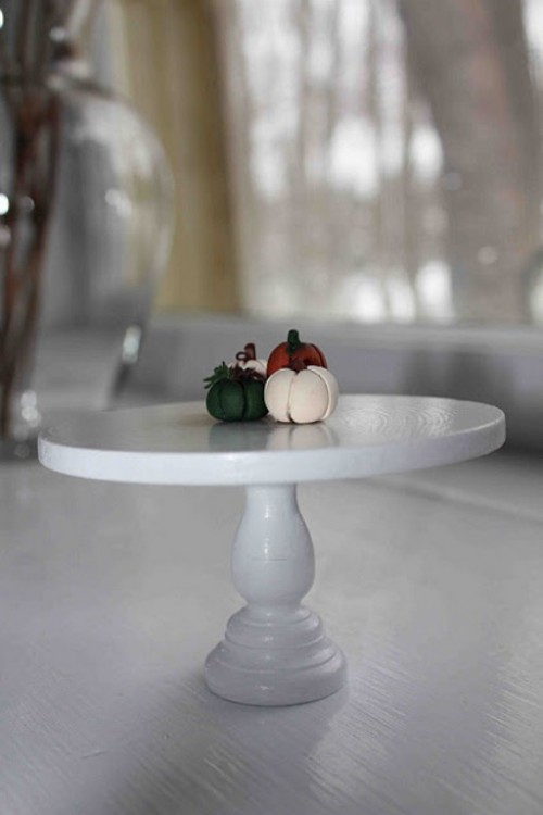 Classical DIY Doll Table That Also Can Be Used As A Cake Stand