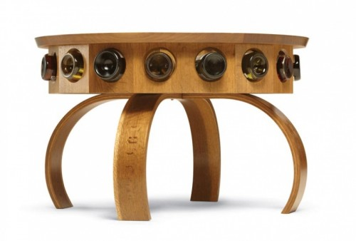 perfect coffee table for wine lovers - shelterness