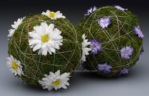 blooming moss ball centerpiece