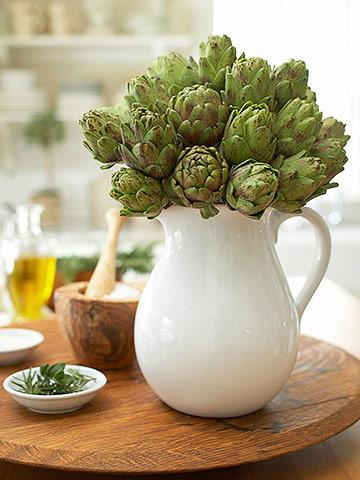 DIY artichoke centerpiece