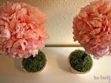 DIY pink peony topiary (via twotwenty-one)