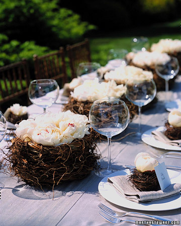 DIY white peony nests (via letsentertain)