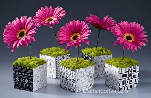 hipster gerbera daisy cubes (via craftsncoffee)