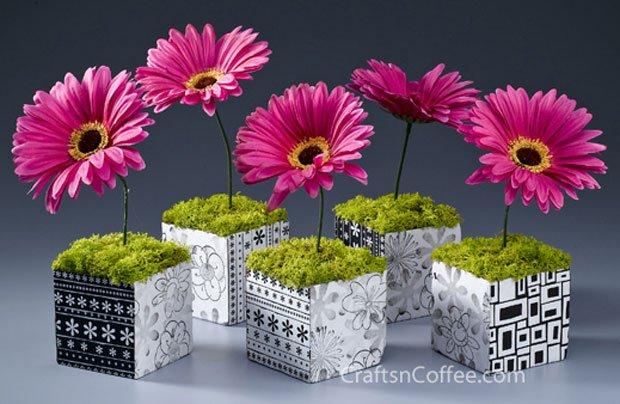 hipster gerbera daisy cubes
