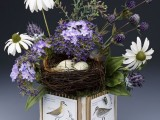coneflower and bird's nest (via craftsncoffee)