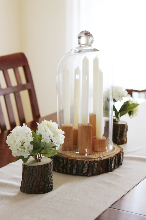 DIY rustic spring centerpiece (via kellyhicksdesign)