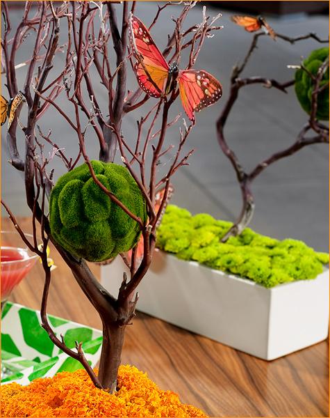 manzanita in rectangle vase