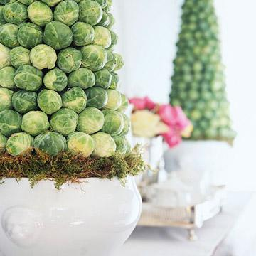 DIY cabbage centerpiece