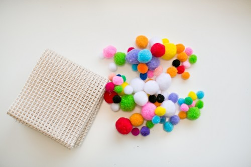 Colorful And Easy DIY Pompom Rug