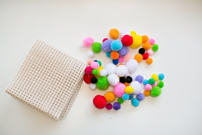 Picture Of colorful and easy diy pompom rug  2