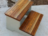 rustic step stool makeover