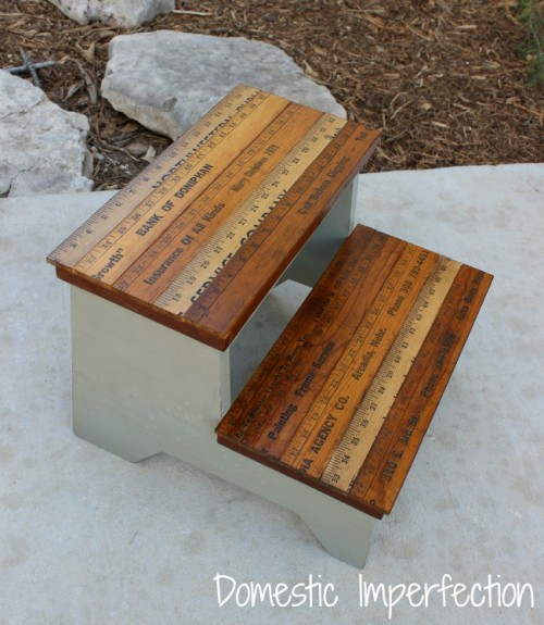 rustic step stool makeover (via domesticimperfection)