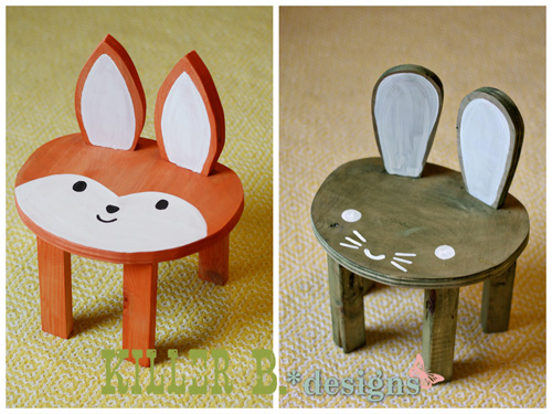 toddler animal stool (via killerbdesigns) & 11 Colorful And Fun DIY Stools For Kids - Shelterness islam-shia.org