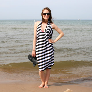 no sew beach wrap (via laviediy)
