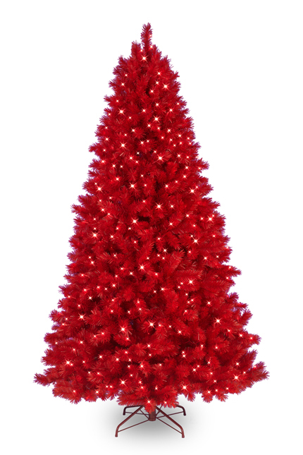 Funky artificial christmas trees in vibrant colors - Arbol de navidad artificial ...