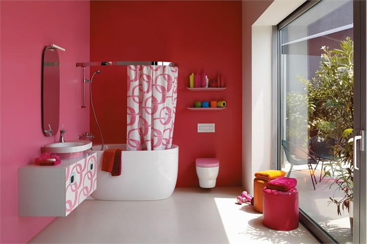 Colorful Bathroom Designs | Shelterness