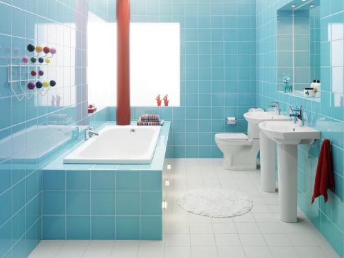 Colorful bathroom designs 14