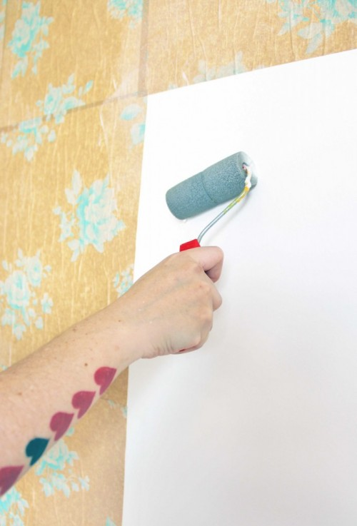 Colorful Diy Accent Wall Collage