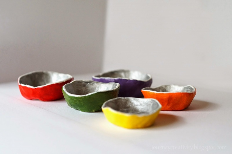 Picture Of colorful diy air dry clay jewelry dishes  6