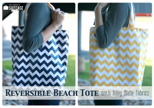 reversible beach tote (via momitforward)