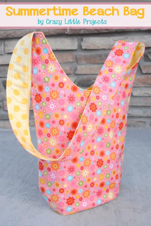colorful summer beach bag