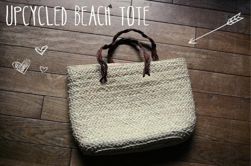 upcycled beach straw bag