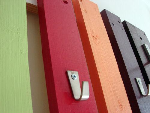Colorful Diy Coat Rack Of A Pallet