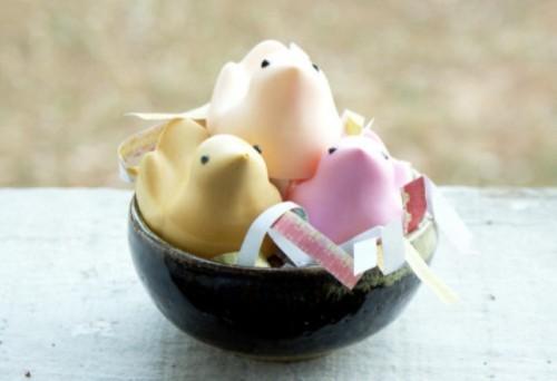 Colorful DIY Easter Peeps Soaps