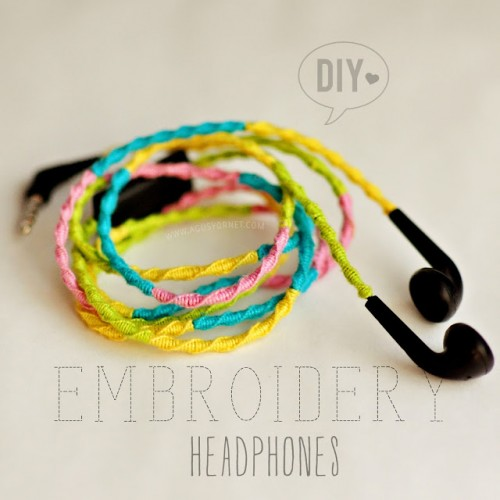 Colorful DIY Embroidery Headphones