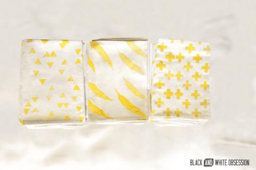 freezer paper cloth napkins (via blackandwhiteobsession)