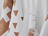 copper geo napkins
