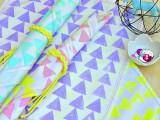 geo stamped napkins