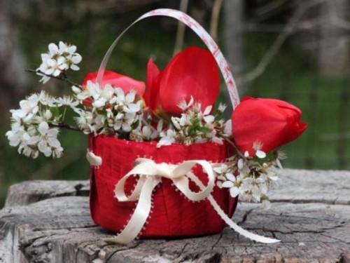 Colorful Diy Flower Basket