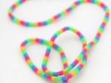 rainbow headphones with beads
