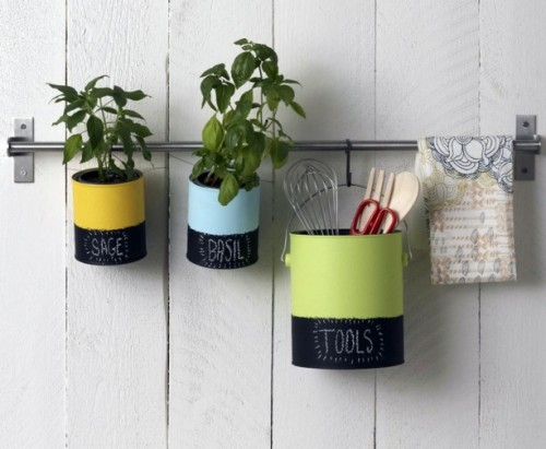Colorful DIY Kitchen Organizers