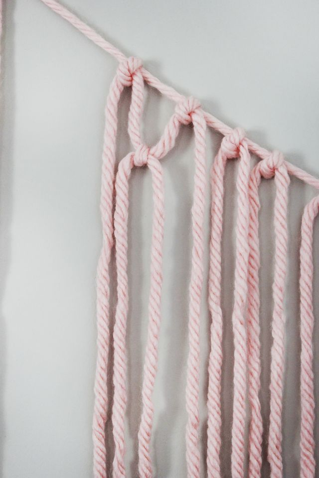 Picture Of colorful diy macrame yarn garland  4