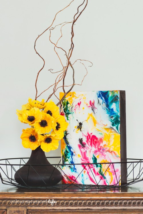 Colorful DIY Marble Art Piece For Decor