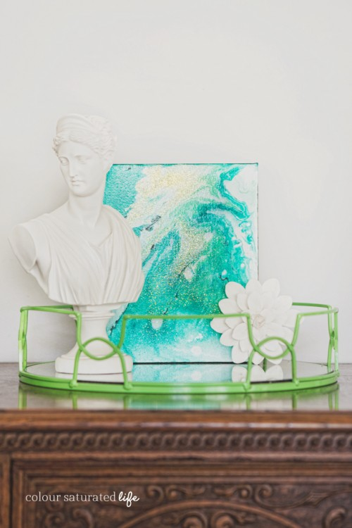 Colorful Diy Marble Art Piece For Decor Shelterness