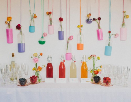 Colorful DIY Mimosa Bar For Parties