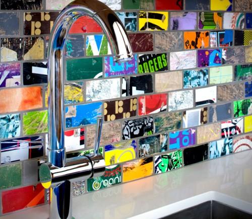 recycled mosaic backsplash (via hiconsumption)