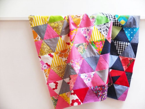 triangle quilt (via mypoppet)