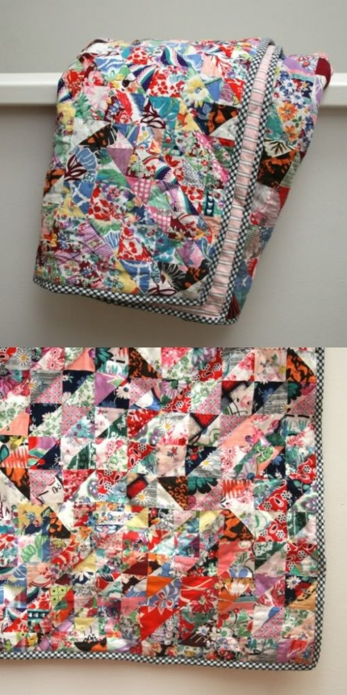 old quilt renovation (via mypoppet)