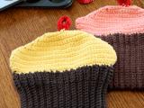 crocheted cupcake potholders