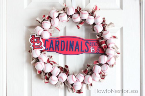 baseball wreath (via howtonestforless)